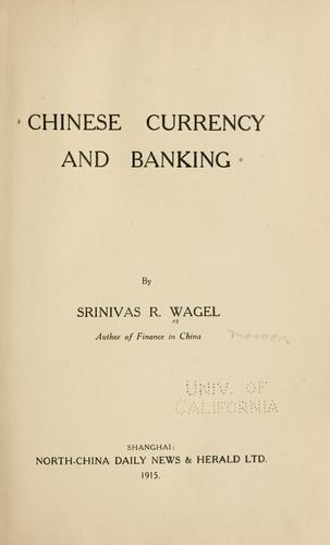 Download Chinese currency and banking