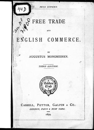 Free trade and English commerce
