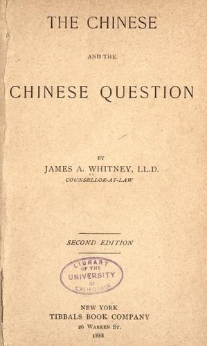 Download The Chinese, and the Chinese question