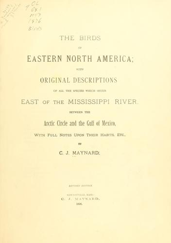 Download The birds of eastern North America