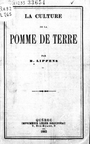 Download La culture de la pomme de terre