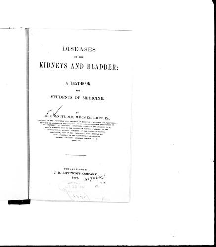 Diseases of the kidneys and bladder