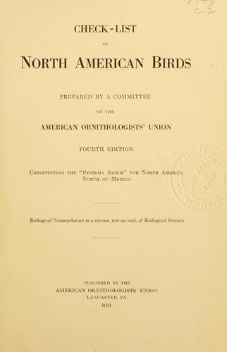 Download Check-list of North American birds