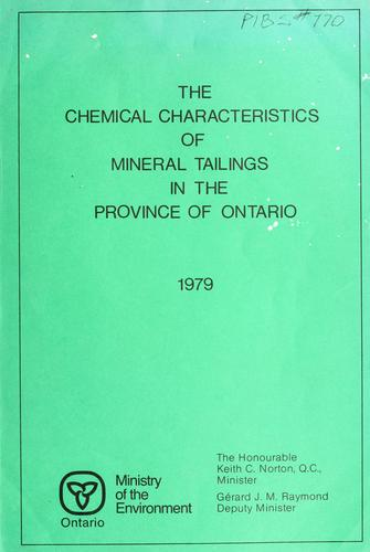 Download The chemical characteristics of mineral tailings in the province of Ontario