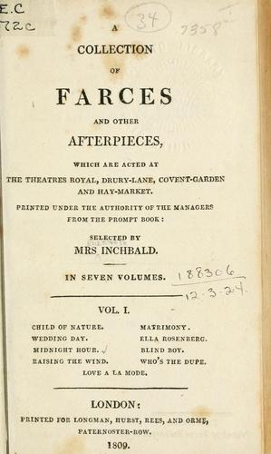 A collection of farces and other afterpieces