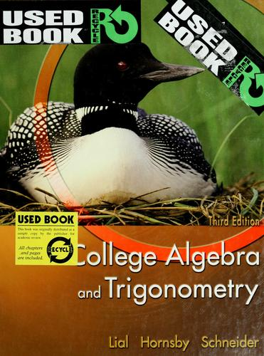Download College algebra and trigonometry