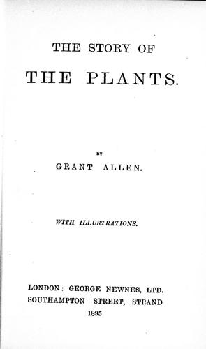 The story of the plants