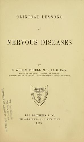 Clinical lessons on nervous diseases.
