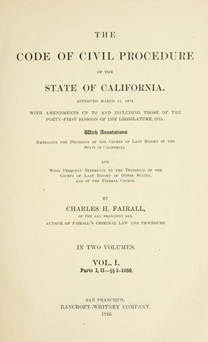 Download The code of civil procedure of the state of California.