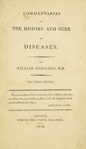 Download Commentaries on the history and cure of diseases.