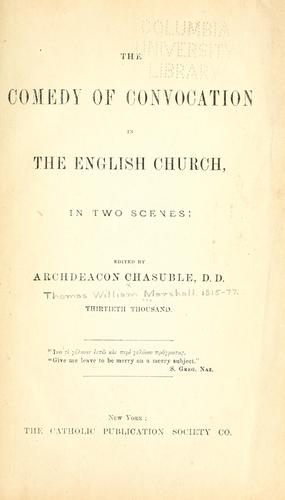 Download The comedy of convocation in the English Church