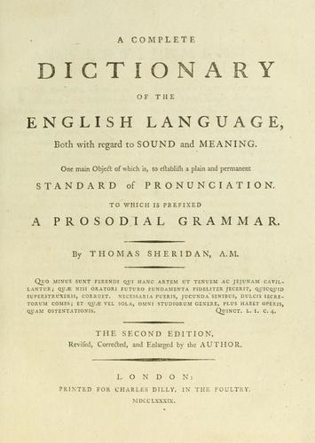 Download A complete dictionary of the English language