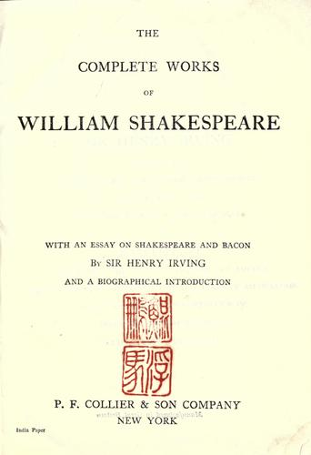 Download The complete works of William Shakespeare