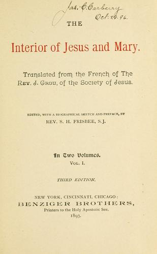 Download The interior of Jesus and Mary