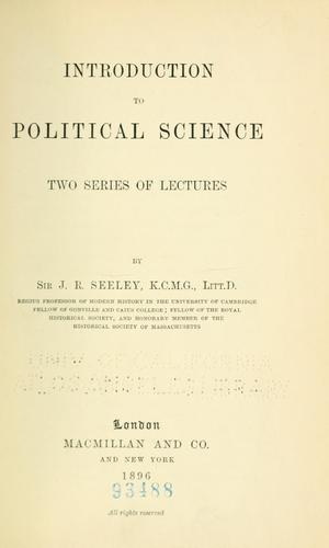 Download Introduction to political science