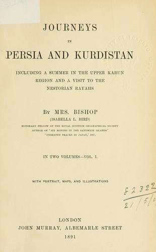 Download Journeys in Persia and Kurdistan