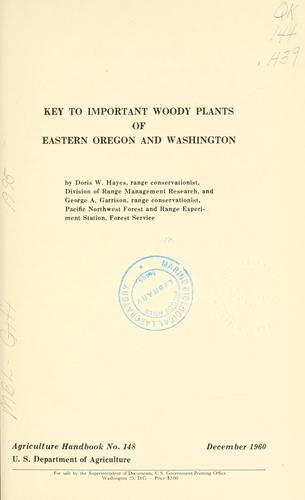 Download Key to important woody plants of eastern Oregon and Washington