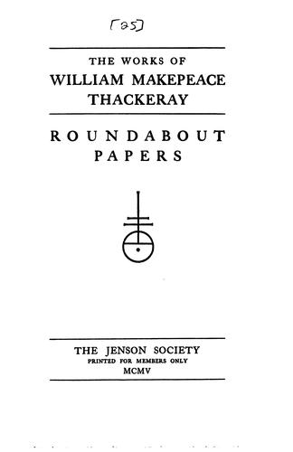 The Works of William Makepeace Thackeray by William Makepeace Thackeray