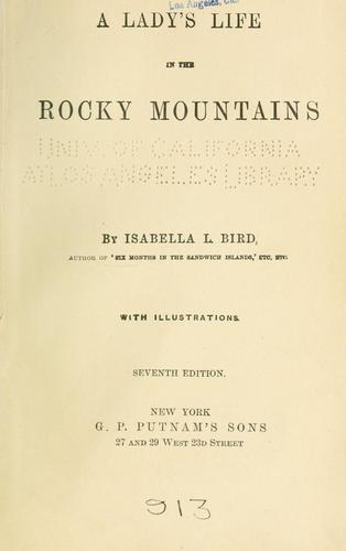 Download A lady's life in the Rocky Mountains.