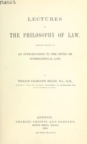 Download Lectures on the philosophy of law
