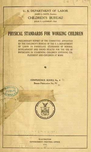 Download Physical standards for working children.