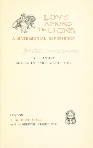 Love among the lions