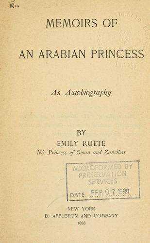 Download Memoirs of an Arabian princess