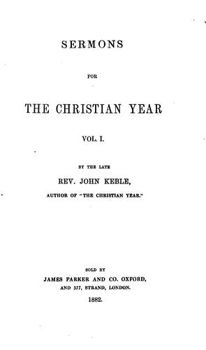 Sermons for the Christian Year