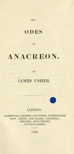 The odes of Anacreon.