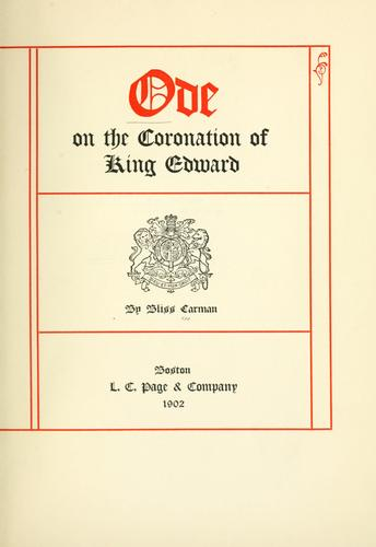 Download Ode on the coronation of King Edward