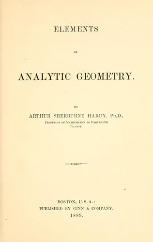 Download Elements of analytic geometry.