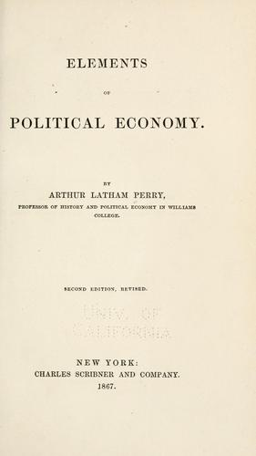 Download Elements of political economy.