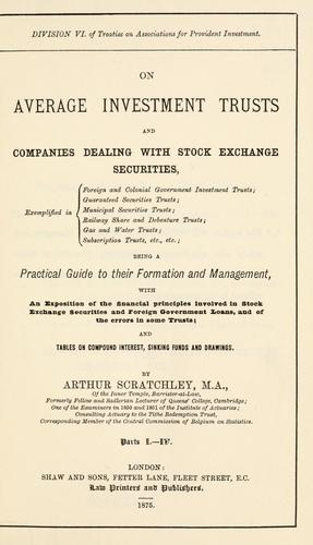 Download On average investment trusts and companies dealing with stock exchange securities