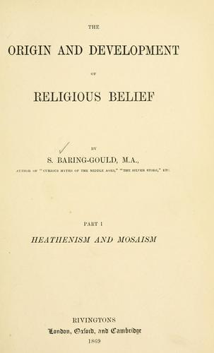 Download The origin and development of religious belief