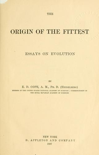 Download The origin of the fittest