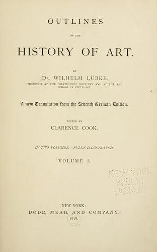 Outlines of the history of art.