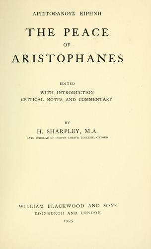 The  Peace of Aristophanes.