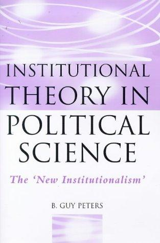 Download Institutional theory in political science