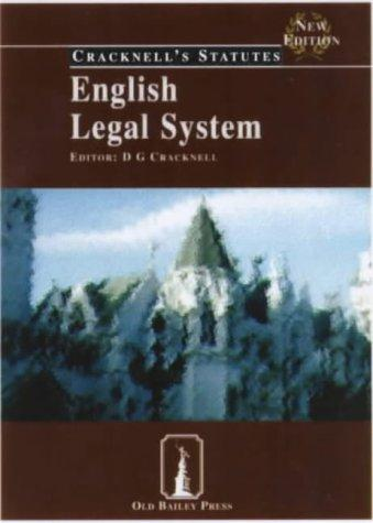 English Legal System (Cracknell's Statutes)