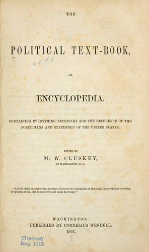 Download The political text-book, or encyclopedia.