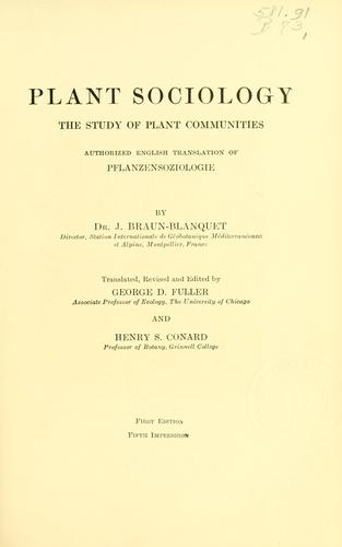 Download Plant sociology