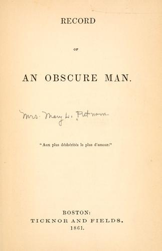 Record of an obscure man …