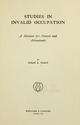 Download Studies in invalid occupation