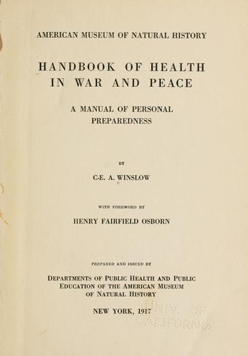 Handbook of health in war and peace