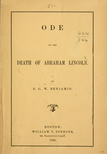 Download Ode on the death of Abraham Lincoln.