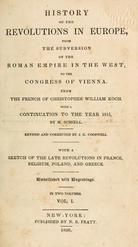 History of the revolutions in Europe