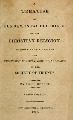Download A treatise on fundamental doctrines of the Christian religion