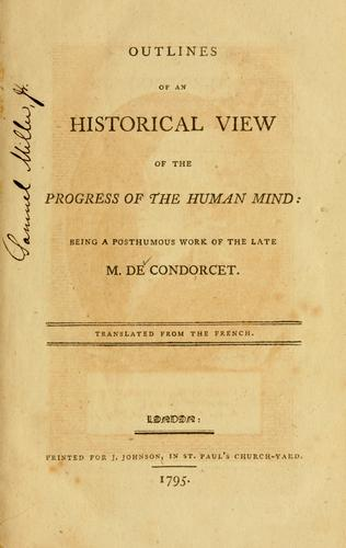 Download Outlines of an historical view of the progress of the humanmind