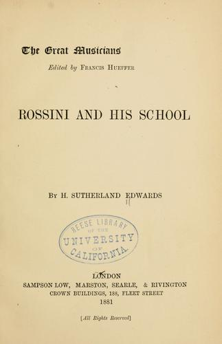 Download Rossini and his school