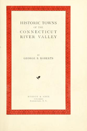 Download Historic towns of the Connecticut River Valley